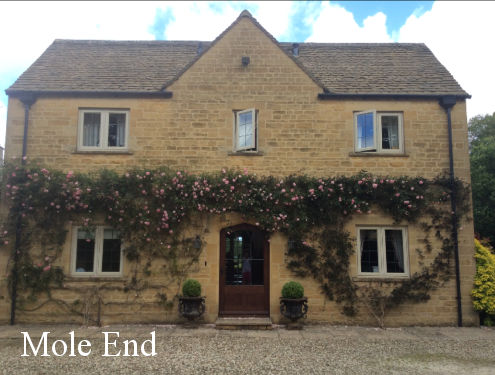 Front view of Mole End, Bed and Breakfast in a traditional Cotswold stone house